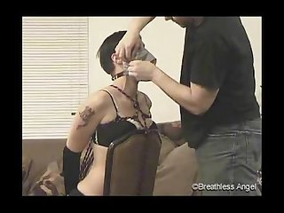 Tape gagged and breathplay part 1