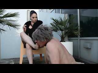 Lady sonia black dirty feet