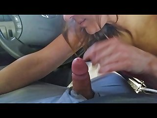 Ex wife swallows a huge load public carwash blowjob