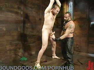 Filling up a slave boy