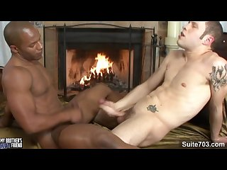 Black gay eddie diaz gets ass licked and fucked by white wolf hudson