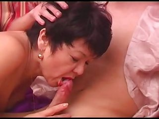 Young boy and asian granny 1
