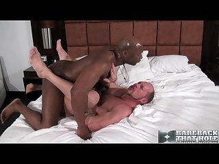 Champ s huge load onto randy s juicy rosebud ass lips
