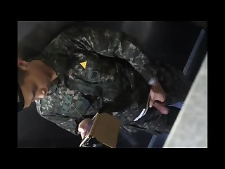 Korean s soilder s cautched jerking off in Toilet and eating his own cum