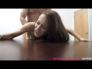 Skinny waitress creampie casting couch full video