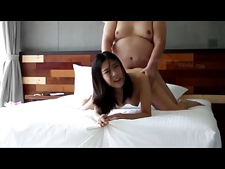 Chinese girl got fucked by a big guy in the hotel room