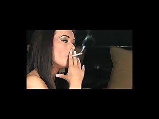 Brunette smoker