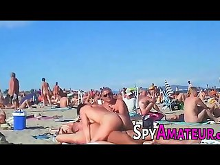 Voyeur swinger beach group sex