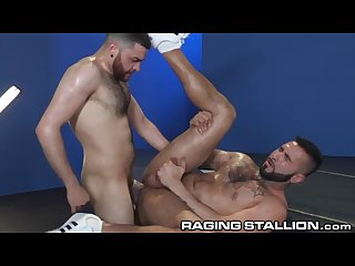 Ragingstallion hairy hunks eat ass and fuck cock
