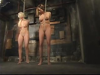 2 girls hogtied bdsm