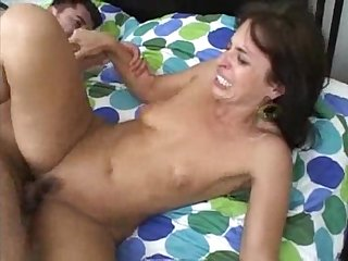 Milf small tits and creampie