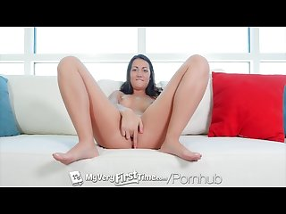 Myveryfirsttime newcomer lily adams kills it at her first ever scene