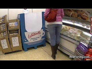 Girl farting in public 2