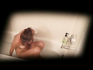 Amanda caught taking bath