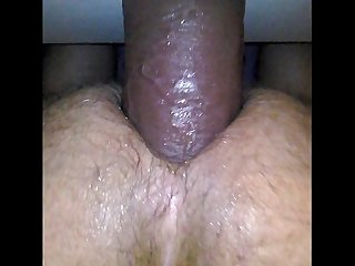 My favourite dildo pounding my ass balls deep 12 inch length 3 inch width