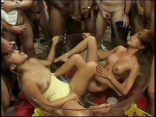 American bukkakes biggest double bukkakes scene 3