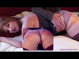 Readhead with nice ass spanked and fucked