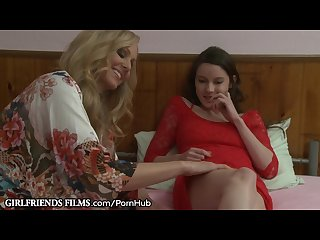 Lesbian teen guided by sensual milf julia ann