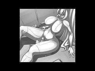 Giantess laboratory growth comic animation 1