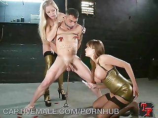 Extreme cock and ball torment