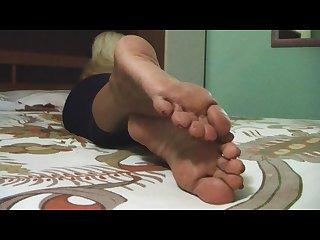 Mature blond soles