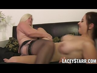 Laceystarr doctor gilf heals patient with lesbian orgasm