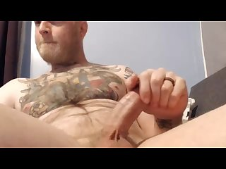 Sexy married viking looking daddy strokes thick hard cock cums on cam