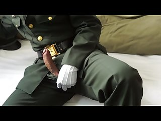 Nco in Army dress uniform Jacking off and cum