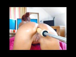 Sandralane anal fuck machine creamy squirt