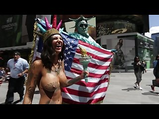 Bonnie rotten walks topless in nyc charlottc
