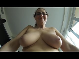 My mature saggy tits and my chubby Belly in slow motion