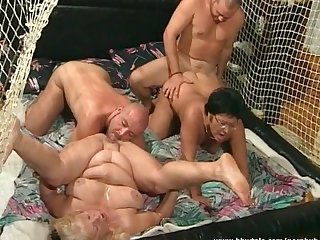 Mature whores fucked by two big cocks