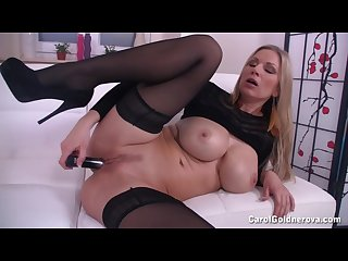 Carol fucks her wet cunt