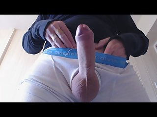 My solo 35 freshly shaved edge and cum closeup