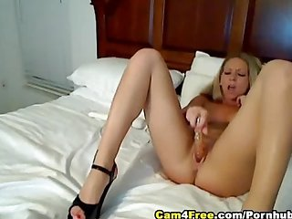 Hot blonde deep masturbation Hd