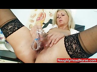 Petruse mature pussy speculum gaping and masturbation