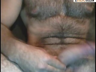 Hunk hairy man teasing