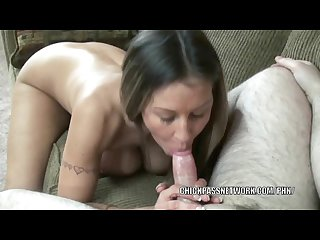 Busty wife leeanna heart is giving an awesome blowjob