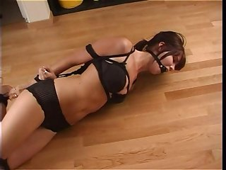 Teen ring gagged and hogtied