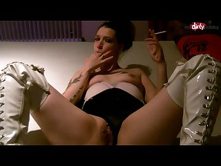 Mydirtyhobby hottattoogirl smoking dirty talk lady
