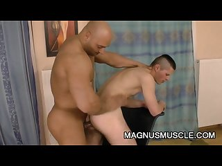 Randy jones ripped muscle dude destroying a tight twink ass