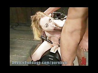 Suspended whipped and face fucked