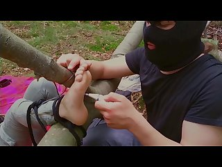 preview one foot Tickle torture in the Forest c4s 97697