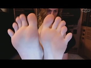 Alaska sucks her sexy teen toes pt 3