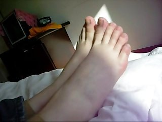 Playing with Chinese girl s feet