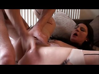 Dirty Submissive Choking and Cock Stuffed Big Orgasm