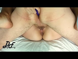 Vibrator in his ass during fucking sex with Greek milf dirtyfamily