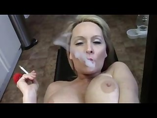 Smoking kitchen fuck