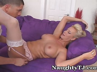 Naughty mature ravishes younger lad