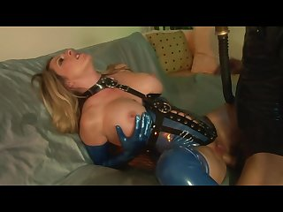 Gas mask latex and a mom